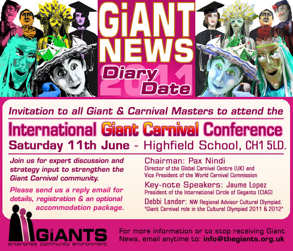 Pax Nindi E-flyer for Giants Conference 2011